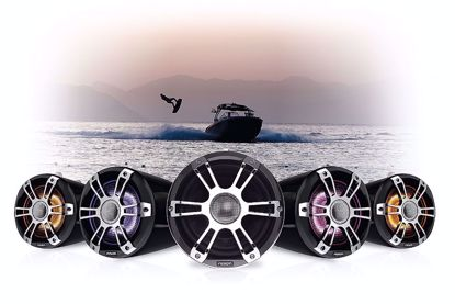 """Picture of SG-FLT652SPC Signature Series 3 6.5"""" Sports Chrome Marine Wake Tower Speakers with CRGBW"""